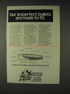 1973 Speer Bullets Ad - Imperfect Made to Fit