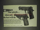 1973 Star Starlight BKS and FM .22 Pistol Ad