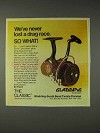 1973 Gladding Classic Fishing Reel Ad - Drag Race