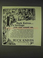 1973 Buck Knives Ad - Heritage You Can Count On