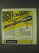 1973 Tasco Ad - 619WF Scope and #28T Spotter