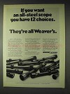 1972 Weaver Scopes Ad - If You Want All-Steel
