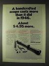 1972 Weaver K4 Scope Ad - Handcrafted