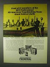1972 Federal Shotgun Shells Ad - Trapshooting Team