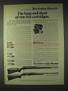 1972 Remington Ad - Model 592 and Model 581 Rifles