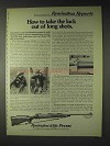 1972 Remington Model 700 BDL Rifle Ad - Take Luck Out