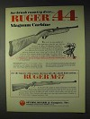 1972 Ruger Ad - .44 Magnum Carbine and M-77 Rifle