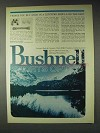 1972 Bushnell Sports Optics Ad - Should Be The Best