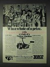 1972 Zebco XB65 Fishing Reel Ad - Whale of a Prize