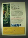 1972 Quebec Canada Tourism Ad - Good Hunting