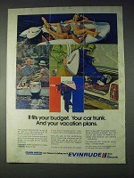 1972 Evinrude 9 1/2 Outboard Motor Ad - Fits Budget