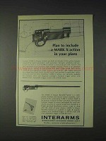 1972 Interarms Mark X Mauser Action Ad - Your Plans