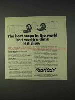 1972 Redfield Scope Mounts Ad - Best in the World