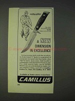 1972 Camillus No. 1013 Yellowstone Knife Ad