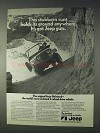 1971 Jeep Universal Ad - Stubborn Runt Holds Its Ground