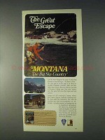 1970 Montana Tourism Ad - The Great Escape
