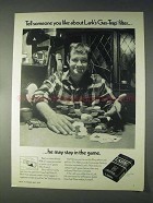 1970 Lark Cigarettes Ad - Stay in The Game