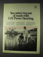 1970 GM Power Steering Ad - Never Run Out of Roads