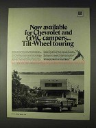 1970 GM Tilt-Wheel Ad - For Chevrolet and GMC Campers