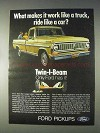 1970 Ford Pickup Truck Ad - Ride Like A Car