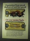 1970 Bank of America Travelers Cheques Ad - Fire-Proof