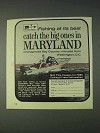 1970 Maryland Tourism Ad - Catch the Big Ones
