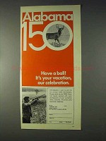 1969 Alabama Tourism Ad - It's Your Vacation!