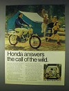1969 Honda Trail 90 Motorcycle Ad - Call of the Wild