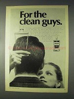 1969 Vaseline Hair Tonic Ad - For the Clean Guys