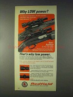 1969 Redfield 1x-4x Variable Scope Ad - Why Low Power?