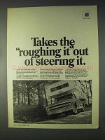 1969 GM Saginaw Steering Ad - Takes Roughing It Out