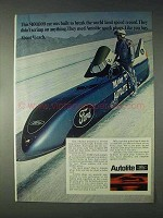 1969 Ford Autolite Sparkplugs Ad - World Land Record