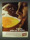 1969 Schlitz Beer Ad - Taste The Golden Age