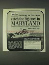 1969 Maryland Tourism Ad - Fishing At Its Best