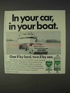 1968 Quaker State Motor Oil Ad - In Your Car, Boat
