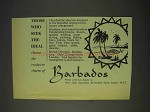 1958 Barbados Tourism Ad - Those Who Seek The Ideal