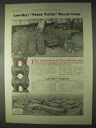 1922 Link-Belt Roller Chain Ad - Proof Tested