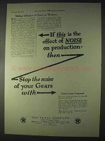 1922 Texaco Crater Compound Ad - Stop the Noise