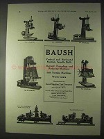 1922 Bausch Multiple Spindle Drills Ad - No. 1, 2, 3, 4