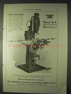 1922 Oliver No. 91 Motor Spindle Mortiser Ad