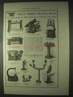 1922 Oliver Beltless Machine Ad - Lathe, Saw, Planer +