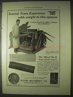 1922 Oliver No. 61 Single Cylinder Surfacer Ad