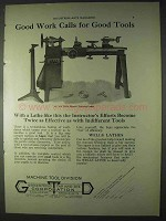 1922 Greenfield Tap & Die Ad - Wells Lathe