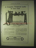 1922 Greenfield Tap and Die Ad - Training Lathe