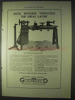 1922 Greenfield Tap and Die Ad - No. 218 Training Lathe
