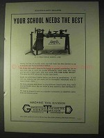 1922 Greenfield Tap & Die Ad - No. 218 Wells Lathe