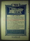 1922 Miehle Printing Press Ad - Cash Assets