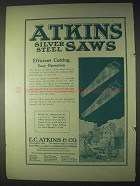 1922 Atkins Silver Steel Saws Ad - Efficient Cutting