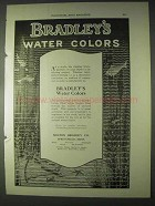 1922 Bradley's Water Colors Ad