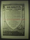 1922 Bradley's Water Colors and Crayons Ad